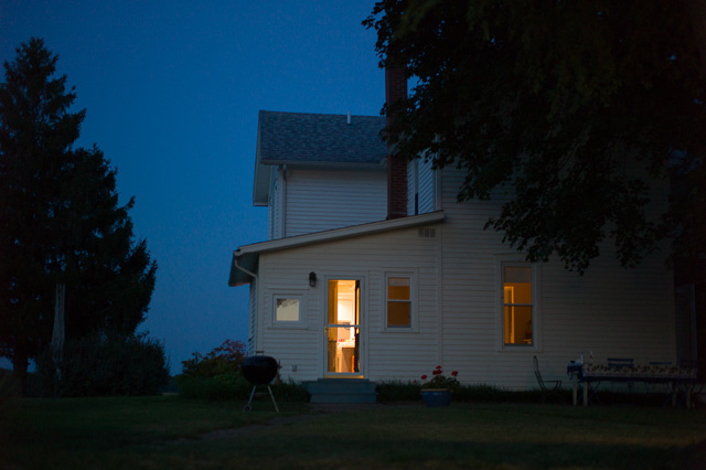 nightfall at Meyer farm