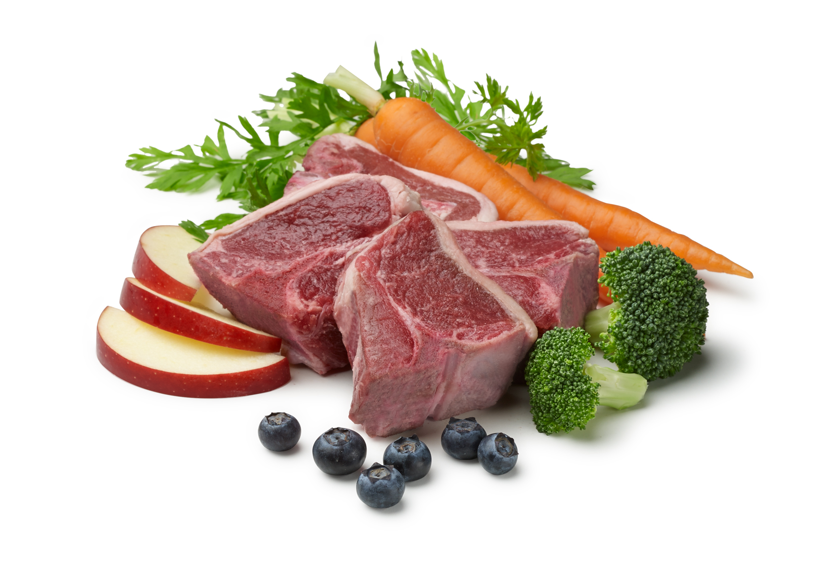 Lamb and vegetables for ingredients